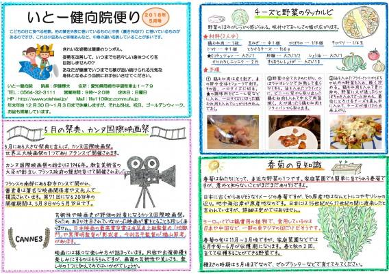 岡崎市の整体【いとー健向院】の院内便り(5月号)